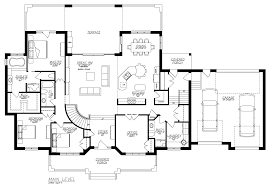 alternate basement floor plan 1st level 3 bedroom house plan with
