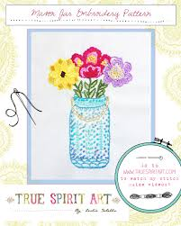 mason jar embroidery pattern