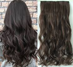 Hair Extensions Online In India by One Piece Wavy Clip In Hair Extensions 4 Darkest Brown Amazon