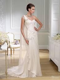 2016 greek style mermaid wedding dresses grecian one shloulder