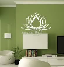 compare prices on lotus wall decal online shopping buy low price free shipping flower vinyl wall decal lotus flower yoga studio meditation buddha mural wall sticker home