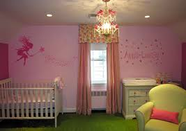 bedroom cool chandelier pink wall big window stickered chair mini