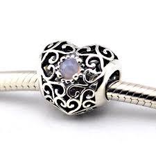 sterling silver heart bead bracelet images Fits western charm bracelets 925 sterling silver heart stone jpg