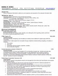 oracle dba resume database administrator resume exles