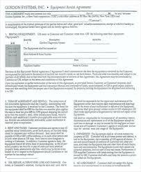16 equipment rental agreement templates free sample example