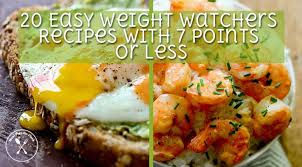 cuisine weight watchers 20 easy weight watchers recipes with 7 points or less meal prep