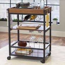 rustic small kitchen cart mini bar industrial wine rack storage