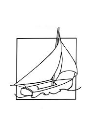 un beau dessin de voilier à colorier bateau ete 2016 pinterest