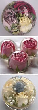 your wedding flowers made into a keepsake paperweight