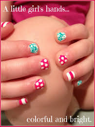 little girls can have cute nails without having to wait for polish