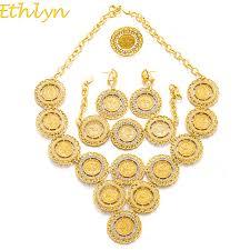 aliexpress buy ethlyn new arrival trendy medusa ethlyn turkey coin necklace earring ring bracelet jewelry sets for