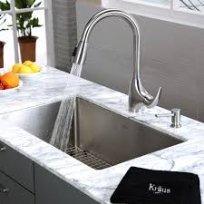 Stainless Steel Faucets Kitchen Stainless Steel Kitchen Sink Combination Kraususa Com