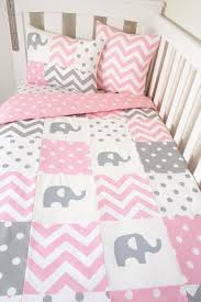 Pink Brown Crib Bedding Nursery Beddings Pink And Grey Elephant Crib Bedding Canada In