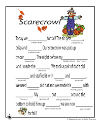 fall mad libs for fall mad libs scarecrow classroom jr