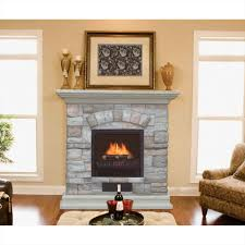 fireplace stone rustic stone fireplace which decorated with white