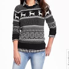 navy sweaters 78 navy sweaters nwt navy reindeer sweater from