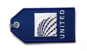united airlines bag fee united airlines embroidered luggage tag flight attendant shop