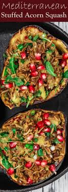 mediterranean style stuffed acorn squash recipe the