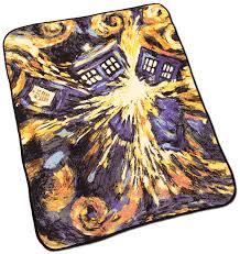Dr Who Duvet Doctor Who Exploding Tardis Throw Blanket Thinkgeek