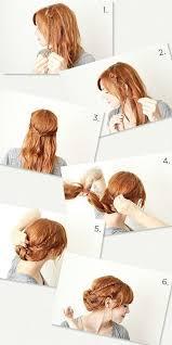 Romantische Frisuren Lange Haare Anleitung by 15 Besten Frisuren Selbermachen Bilder Auf
