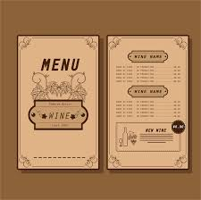 pages menu template wine menu design template free vector 14 585 free vector