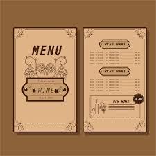 pages menu template wine menu design template free vector 14 585 free vector
