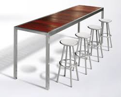 stainless steel bar table contemporary high bar table wooden stainless steel rectangular