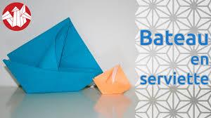 deco table marin origami bateau en serviette napkin boat senbazuru youtube