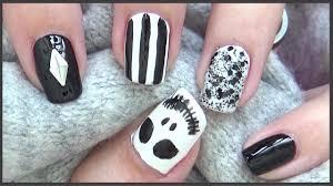 jack skellington nails easy halloween nails 2017 youtube