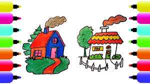 how to draw the house coloring pages for kids nursery rhymes