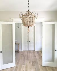 color in the first room is pale oak by benjamin moore the color