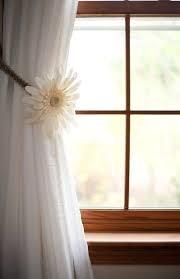 curtain tie back macrame curtain tiebacks one pair floral