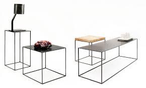 Wohnzimmertisch Metall Holz Moderner Beistelltisch Metall Rechteckig Slim Irony By