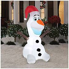 Blow Up Lawn Decorations Frozen Christmas Inflatables Lawn Decorations For The Holidays