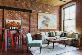 mixing furniture colors living room industrial with painting