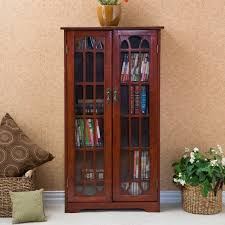 southern enterprises china cabinet window pane media cabinet cherry set of 1 ms1073t by