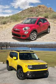 old yellow jeep 2016 fiat 500x u0026 2016 jeep renegade 4x4 red tomato yellow