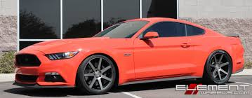 Mustang Black Matte 20 Inch Staggered Niche Verona Matte Black Machined W Tint On