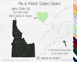 Idaho State Map by Idaho State To State Clipart Commercial Use Clipart Mix U0026 Match