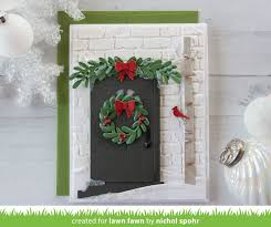mini wreath lawn fawn