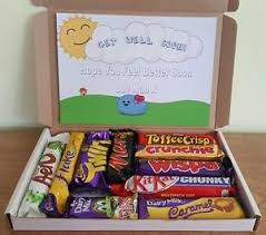 get better soon gifts get well soon personalised chocolate gift box ebay