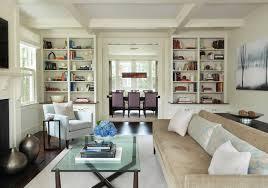 bookshelves in living room old hingham hill living room traditional living room boston