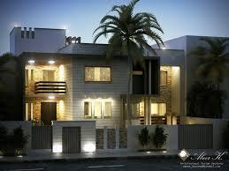 libya contemp villa b night render by kasrawy on deviantart