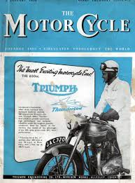 triumph thunderbird 1949 vintage motorcycle posters pinterest