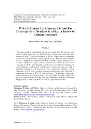 si e lib ation e library services challenges and pdf available