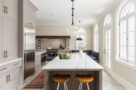 Limed Oak Kitchen Cabinets Gray Limed Oak Kitchen Island With Honed White Marble Counters