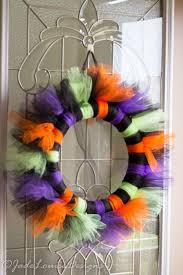halloween wreath stunning easy to make tutu halloween wreath tutorial for your front