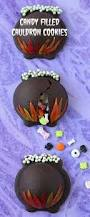 halloween cauldrons magical halloween treats candy filled cauldron cookies