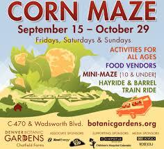 Denver Botanic Gardens Corn Maze Botanic Gardens Corn Maze Greenfain