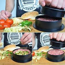 Backyard Grill Stuffed Burger Press Burger Press With Recipe Ebook Different Size Patty Molds And Non Sti